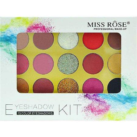 Paleta de Sombras Miss Rôse 7001-077MY2 - 15 Cores