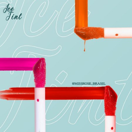 Lip tint em gel congelante - Miss Rose cor 2