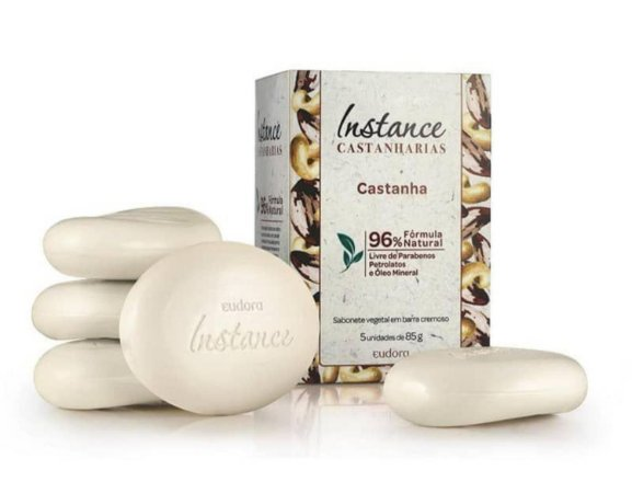 Sabonete em Barra Instance Castanharias Castanha 5x85g - Eudora