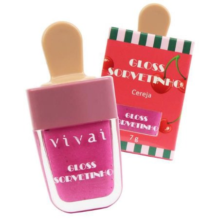 Gloss Sorvetinho Vivai - Cereja