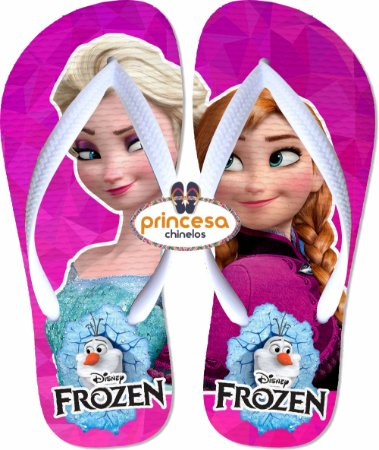 chinelo frozen rosa