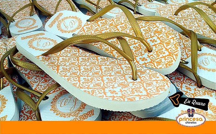 Chinelos personalizados baratos na 25 de março - kit com 20 pares linha Premium