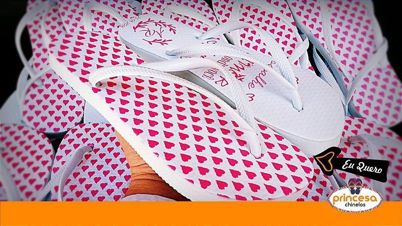 sandalias personalizadas para lembranças de casamento - kit com 45 pares Linha Econômica