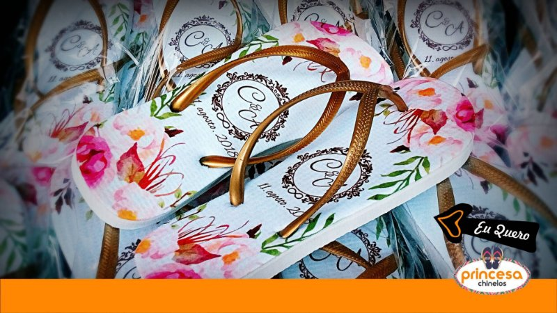 chinelo lembrança casamento preço kit com 130 pares linha Premium
