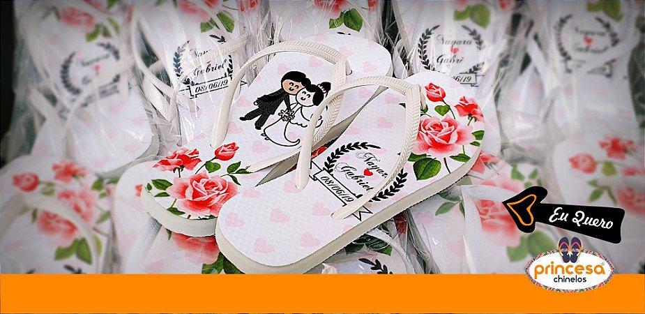 chinelos personalizados baratos para casamento - kit com 450 pares Linha Econômica