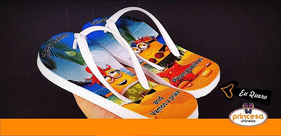 chinelos personalizados campinas sp - kit com 900 pares Linha Econômica