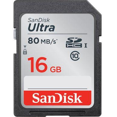 Cartão SDHC 16GB Sandisk Ultra Classe 10 80mb/s