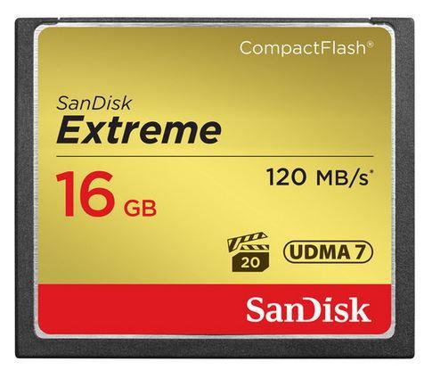 CARTÃO DE MEMORIA CF SANDISK 16GB EXTREME S 120MB/S