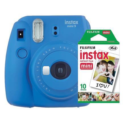 Câmera Fujifilm Instax Mini 9 Azul Cobalto + Pack 10 Filmes