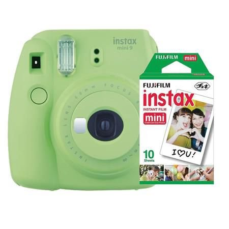 Câmera Fujifilm Instax Mini 9 Verde Lima + Pack 10 Filmes