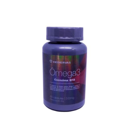 ÔMEGA 3 com COENZIMA Q10 - 60 Cáp 500  mg