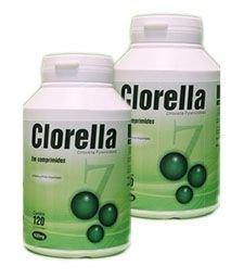 Clorela - 120 Cáp 500 mg - KIT 2 frascos