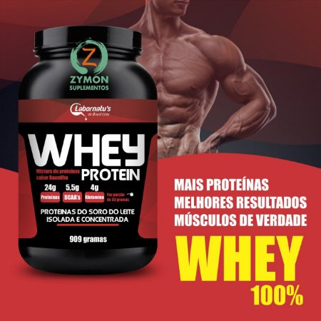Whey Protein - PADRÃO OURO (Proteína Isolada) - 909 g