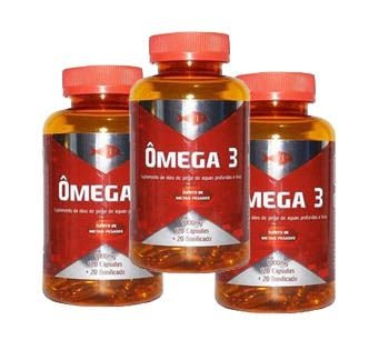 Ômega 3 - 120 Cáp 1000 mg - Kit 3 Frascos mais 1 de bônus