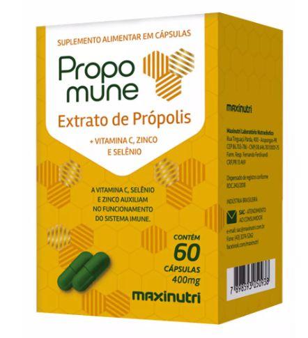 Propomune - Extrato de Propólis - 60 Cáp 400mg