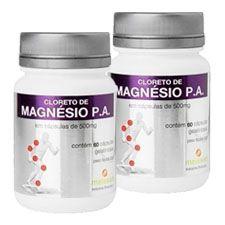 CLORETO DE MAGNÉSIO PA - 60 Cáp 500 mg - 2 FRASCOS