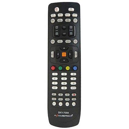 Controle remoto azamerica s1006 / s1007  - 7084