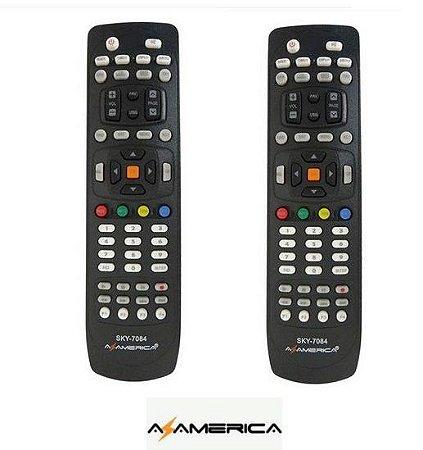 Controle Remoto para receptor Azamerica  S1006, S1007 / Kit com 2 Unidades