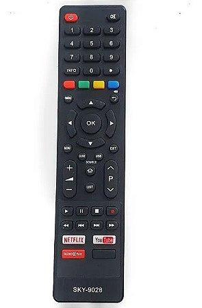 Controle Remoto TV LED Philco com Netflix / Youtube / Globo Play (Smart TV)