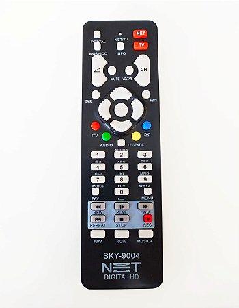 Controle Remoto Receptor NET Digital HD MAX CR2FP Com Botão TV