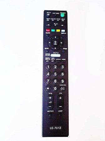 Controle Remoto Sony Compatíveis  RM-YD081  KDL-22EX355  KDL-22EX357  KDL-32BX353  KDL-32BX354  KDL-32BX355/7012