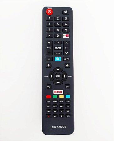 "Controle Remoto Smart TV 4K LED 49"" Semp TCL SK6000 / CT-6841 com Netflix / Youtube"