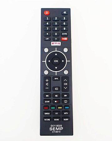 Controle Remoto Semp TCL Ct-6810 Com Tecla Netflix L32S3900S / L39S3900FS