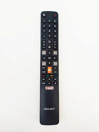 Controle Remoto TV Smart TCL 49P2US / 55P2US / 65P2US / L32S4900S / L40S4900FS / L55S4900FS com Netflix