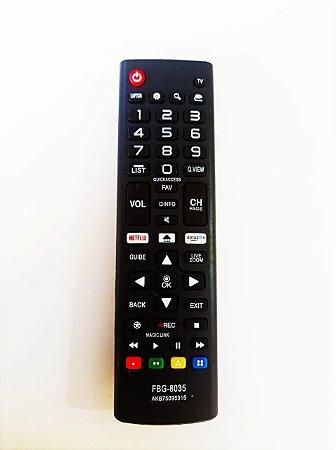 Controle Remoto Tv LG Smart Linha LJ / UJ Akb75095315 Com botões NetFlixx e Amazo