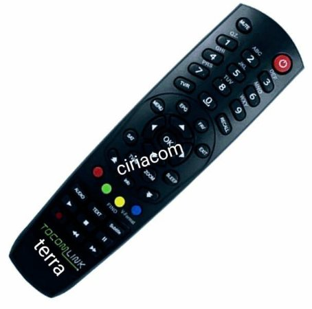 Controle remoto Receptor Tocomlink Terra HD e Terra+ HD