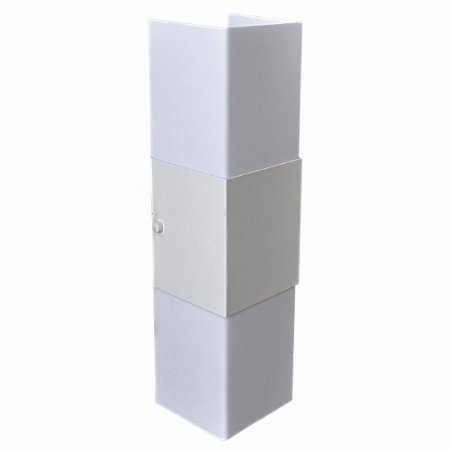 Arandela Retangular Aluminio / Acrilico Fosco Piuluce 3067