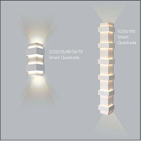 Arandela Quadrada Smart 12 cm - Usina Design 5220-28