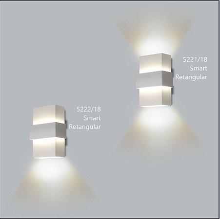 Arandela Retangular Smart 12 x 7 cm - Usina Design 5221-18