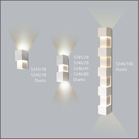 Arandela Quadrada Dueto 18 cm - Usina Design 5246-18