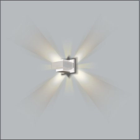Arandela Retangular Drops 10,5 x 8 cm - Usina Design 5265-10