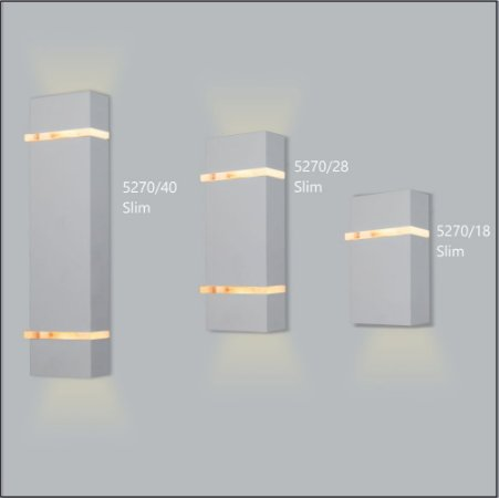 Arandela Retangular Slim Fechada 18 x 10,5 cm - Usina Design 5270-18