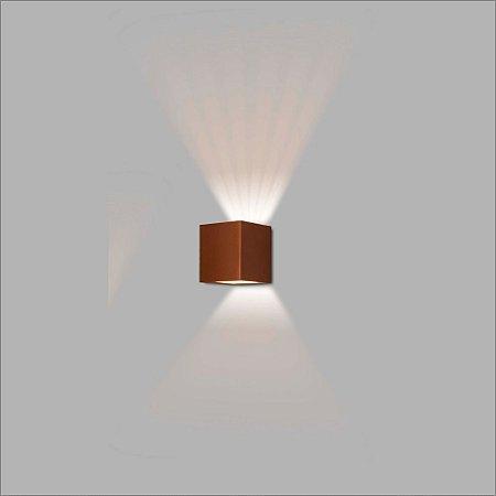 Arandela Quadrada Frisa Vidro e Lente 10 cm - Usina Design 5765-2