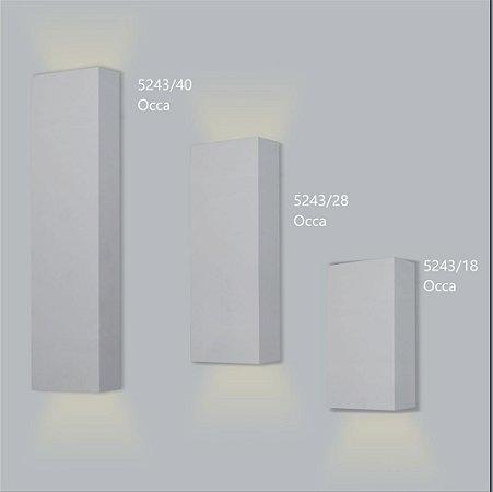 Arandela Retangular Occa Fechada 18 - Usina Design 5243-18