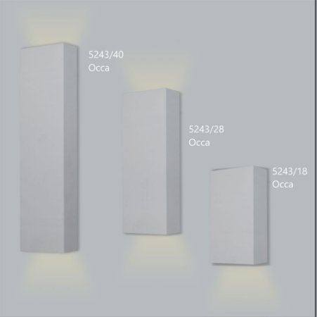 Arandela Retangular Occa 28 cm - Usina Design 5243-28