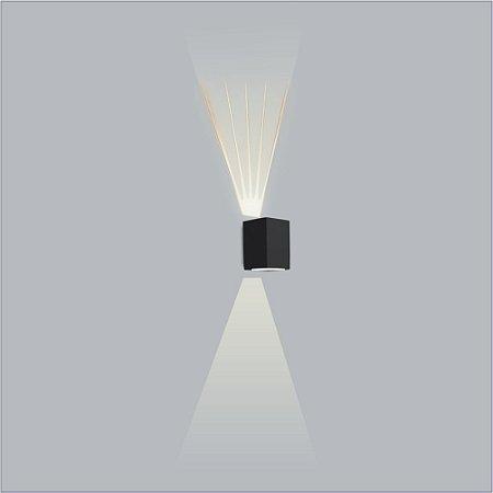 Arandela Retangular Avenca 1 Vidro e 1 Lente 15 x 12cm - Usina Design 5118-1