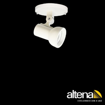 Spot Dome com canopla Branco Mono - Altena Iluminação