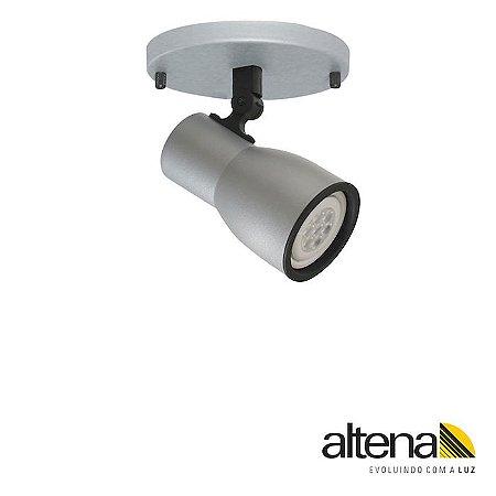 Spot Dome com canopla (Platinado) - Altena Iluminação