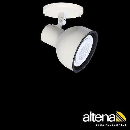 Spot Dome com canopla (Branco Fosco) - Altena Iluminação