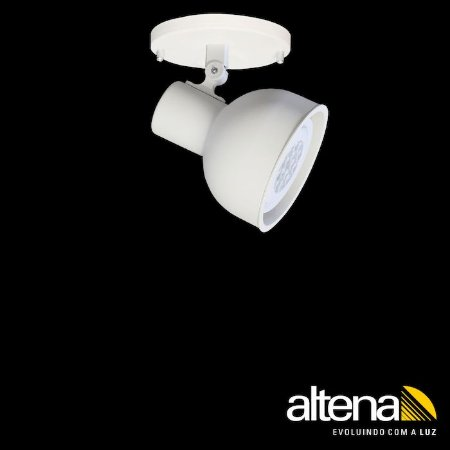 Spot Dome com canopla (Branco Mono) - Altena Iluminação