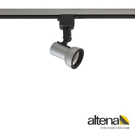 Spot Dome com Plug Altrac para Trilho Eletrificado Platinado - Altena Iluminação
