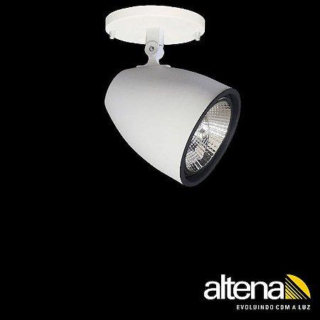 Spot Duo com canopla Branco Fosco - Altena Iluminação