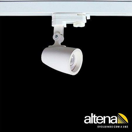 Spot Duo com Plug Altrac PRO para Trilho Eletrificado de três circuitos Branco Mono - Altena Iluminação