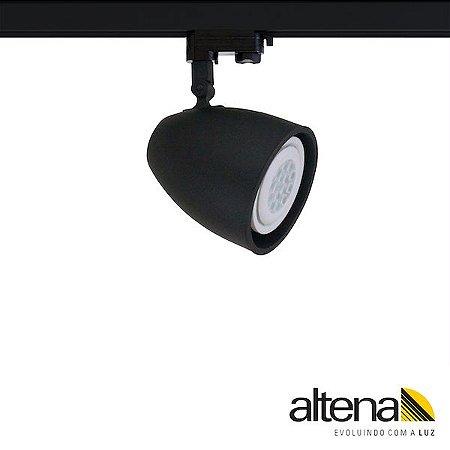 Spot Duo com Plug Altrac PRO para Trilho Eletrificado de três circuitos Preto Fosco - Altena Iluminação