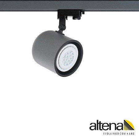 Spot Giga com Plug Altrac PRO para Trilho Eletrificado de três circuitos Grafite Fosco - Altena Iluminação