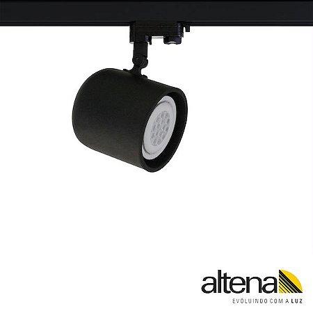 Spot Giga com Plug Altrac PRO para Trilho Eletrificado de três circuitos Preto Fosco - Altena Iluminação